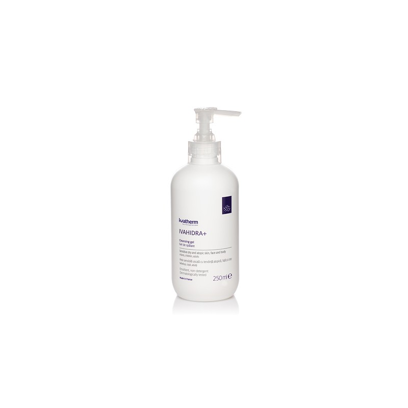 IVAHIDRA+ Gel de spalare piele sensibila, foarte uscata sau atopica, 250 ml