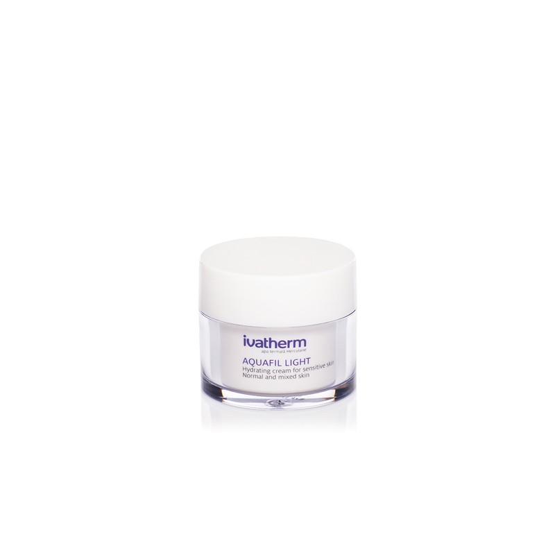 Crema hidratanta piele sensibila, normala sau mixta Aquafil Light, 50 ml, Ivatherm