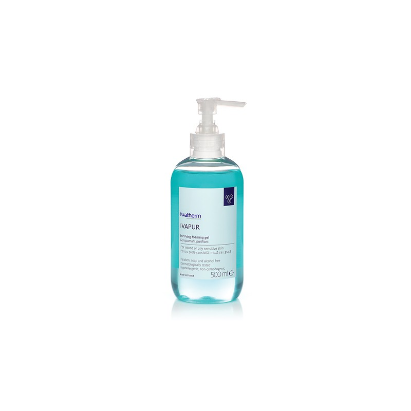 IVAPUR Gel de spalare pentru piele sensibila,mixta sau grasa 500 ml