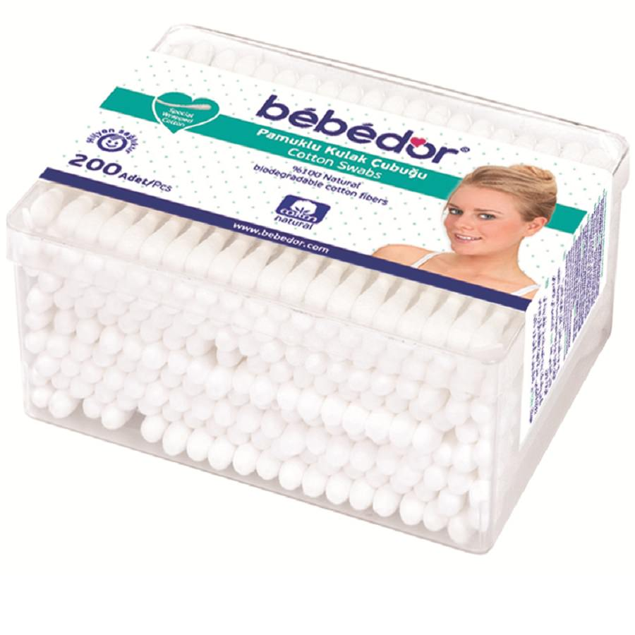 Betisoare din bumbac BEBE D'OR, 200 buc. -