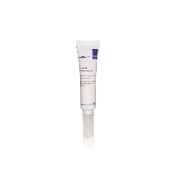 IVAPUR No Imperfection Ser cu actiune intensa pentru piele grasa, acneica, 15 ml -