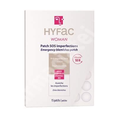 HYFAC Woman Plasturi SOS Anti-imperfectiuni, 15 bucati - tratament antiacnee