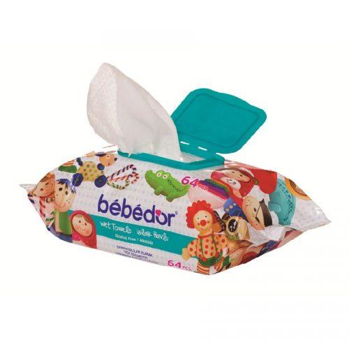 Servetele umede cu capac BEBE D'OR, 64 buc. - BEBE D'or