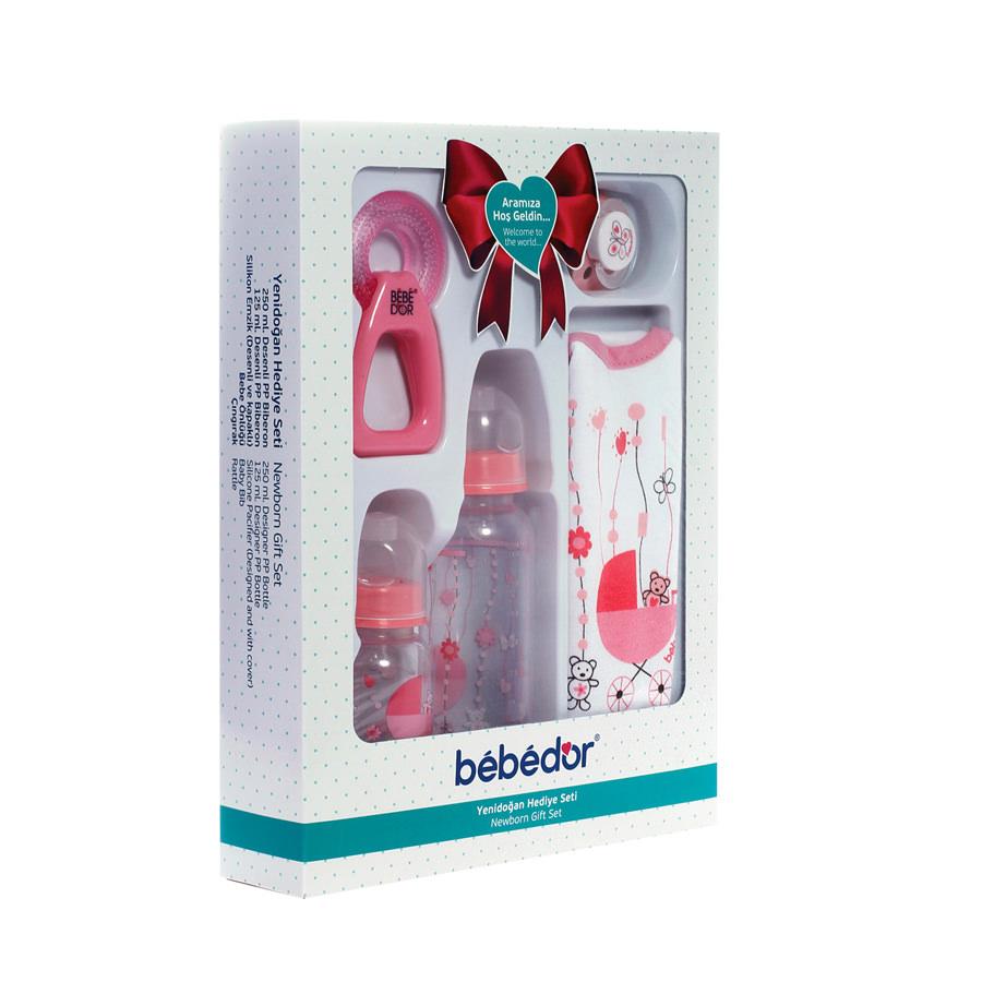 Set cadou Bebe D'or pentru bebelusi cu 5 piese -