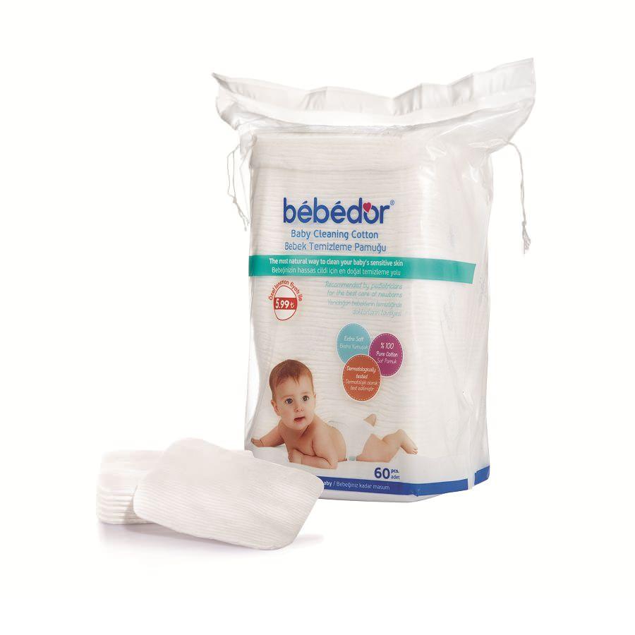 Dischete de curățare din bumbac BEBE D'OR, 60 buc. -
