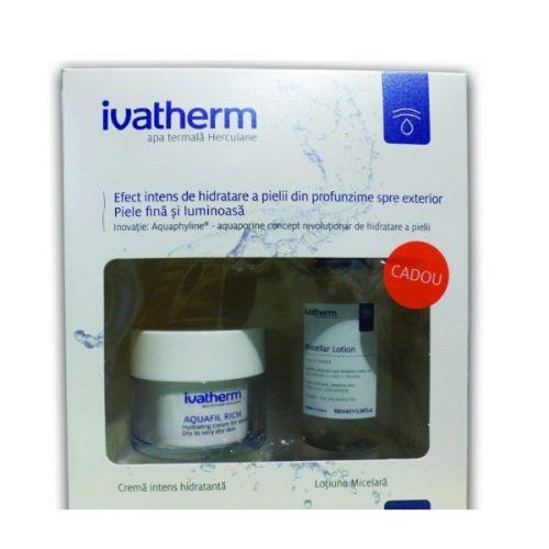 AQUAFIL RICH + Lotiune micelara 100 ml CADOU - Ivatherm