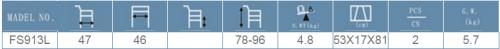 Cadru de mers pliabil, ajustabil pe înălțime, cu funcție de pășire, FS913L -