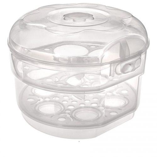 Sterilizator BEBE D'OR pentru cuptorul cu microunde - 6 biberoane - BEBE D'or