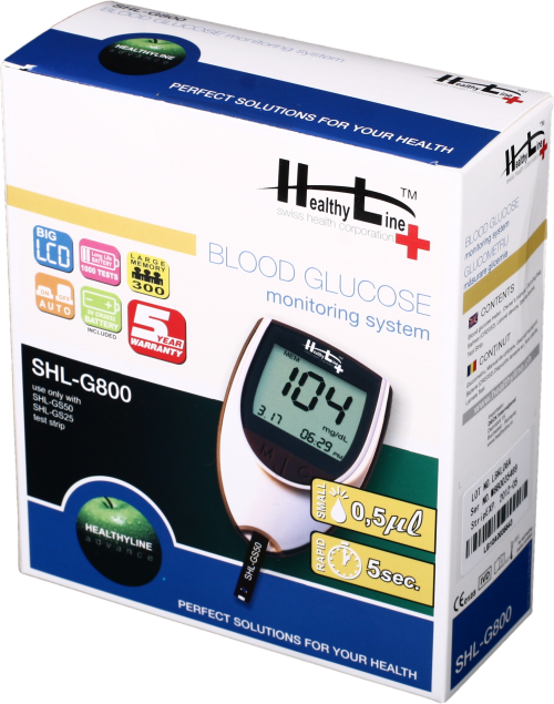 Glucometru Healthy Line SHL-G800 -